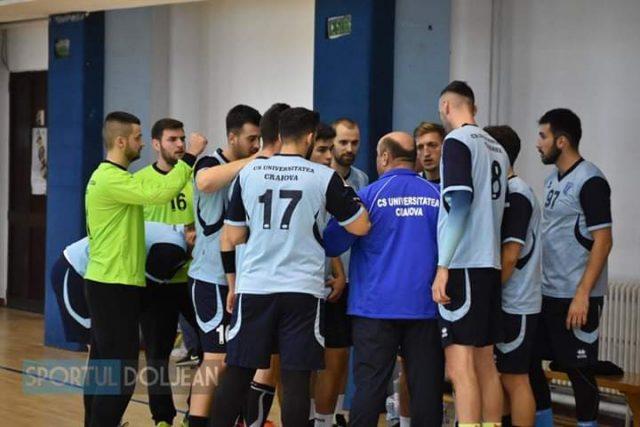 CSU Craiova câștigă ultima partidă din primul tur al Diviziei A masculine
